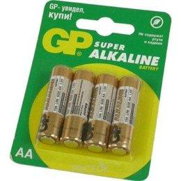 GP Batteries AA bat Alkaline 4шт Super (15A)