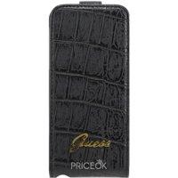 Фото Guess Flip Case Croco Mat Black for iPhone 5 (GUFLP5CMB)