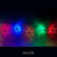 Фото Feron CL108 RGB разноцветные снежинки (26941)