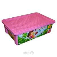 Фото Little Angel Ящик для хранения игрушек Даша путешественница 30л