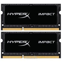Фото Kingston 16GB (2x8GB) SO-DIMM DDR3L 1600MHz HyperX IMPACT (HX316LS9IBK2/16)