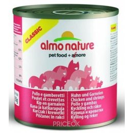корм для кошек  Almo Nature Classic Adult Cat Chicken and Shrimps 0,28 кг